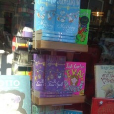 A great display of my books in O'Mahony's bookshop, Limerick