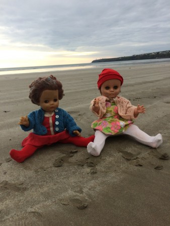 Enjoying the beach in Tramore